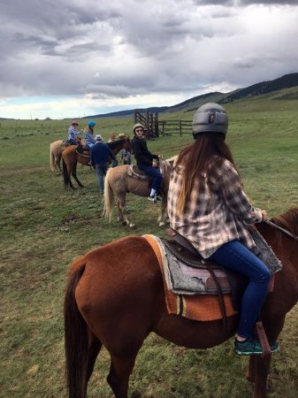 Fairplay, CO: My little cowboys and cowgirls ready to ride.