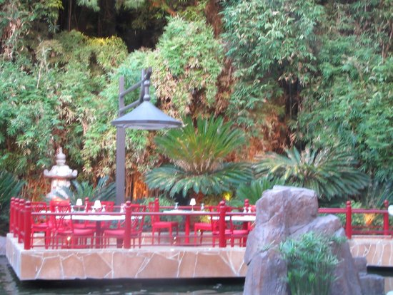 View of Japanes Garden From Table, Mizumi, Wynn Hotel, Las Vegas, NV ...