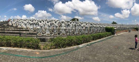 Bintan Island, Indonesia: Panorama View of 500 Louhan Statutes