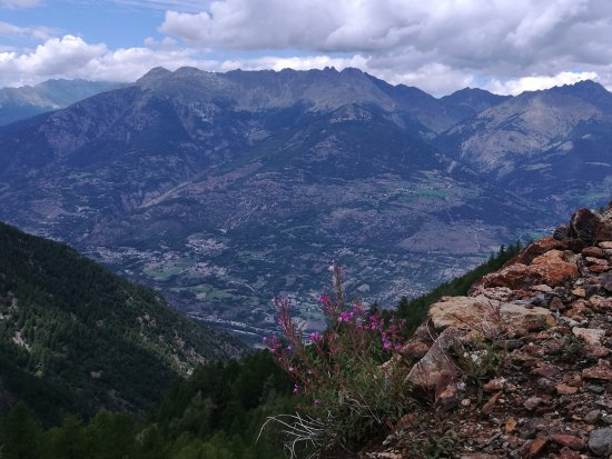 Saint-Marcel, Itália: Panorama dalle miniere