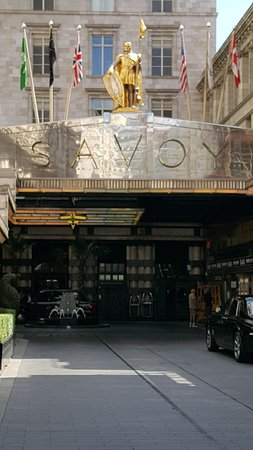 The Entrance view to The Savoy Hotel