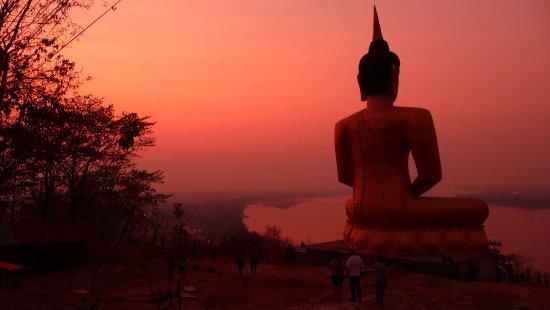 Pakse, Laos: Approaching 6.00PM each evening