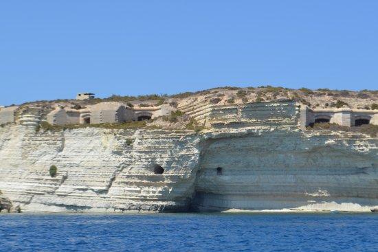 Marsaxlokk, Malta: Cote vue de la mer