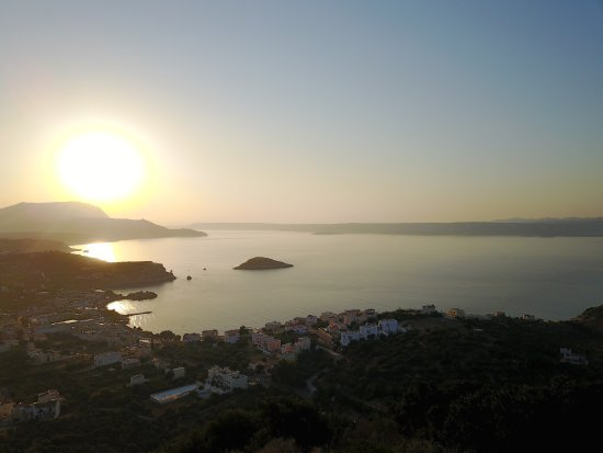 Плака, Греция: view from the villa inside the bay of souda