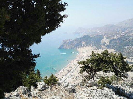 Kolimbia, กรีซ: Vista spiaggia Tsampika
