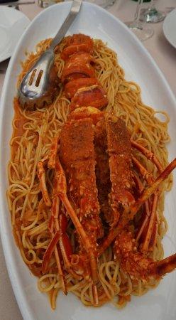 Vrboska, Kroatien: Yummy! Lobster spaghetti.
