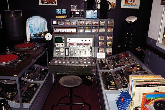 Hoek van Holland, Países Bajos: Original-Studio des Sendeschiffes (Norderney).