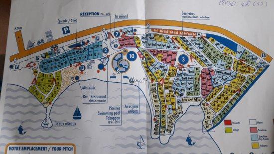 Azur, Γαλλία: Plan du camping