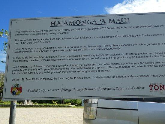 Tongatapu Island, Tonga: information sign