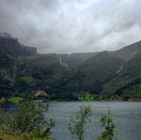 Vik Municipality, Norway: Sleipefossen eller Haldorslifossen