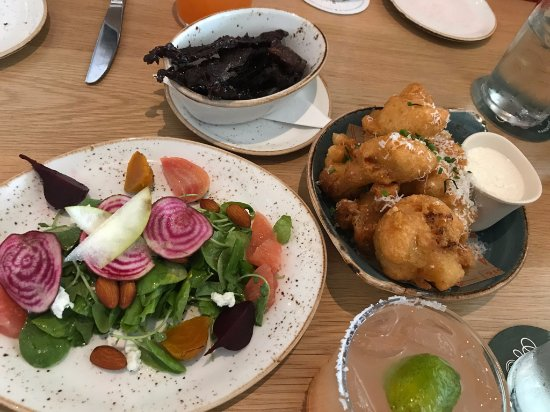 Decatur, GA: Beet Salad, Beef Jerky, Fritters, and Salty Dog