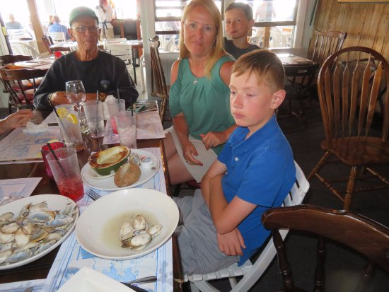 Bourne, MA: This Third Grader Destroyed That Bowl of Clams, Watched By His Grandfather, Mother, and Brother