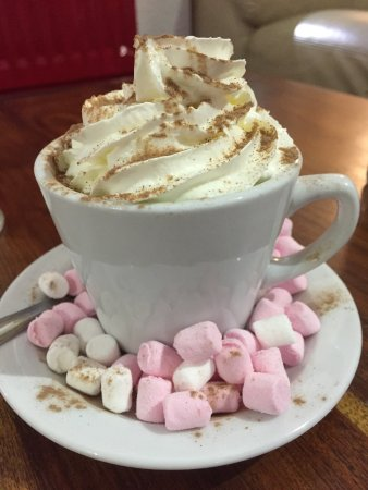 Brenchley, UK: Hot Chocolate with all the trimmings