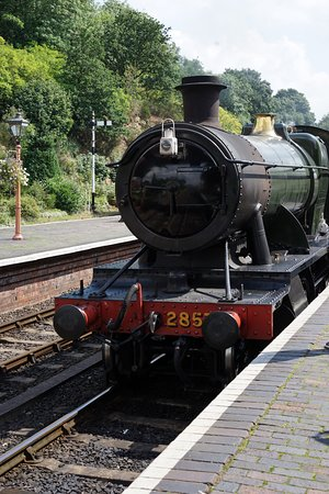Kidderminster, UK: One of the many steam engines that kids will want to over