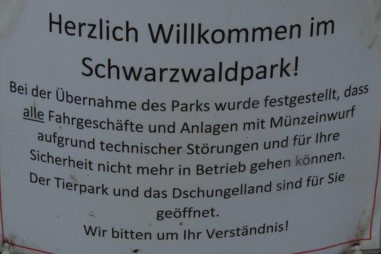 Loeffingen, Alemania: Schild; Besuch des Parks am 9.8.2017