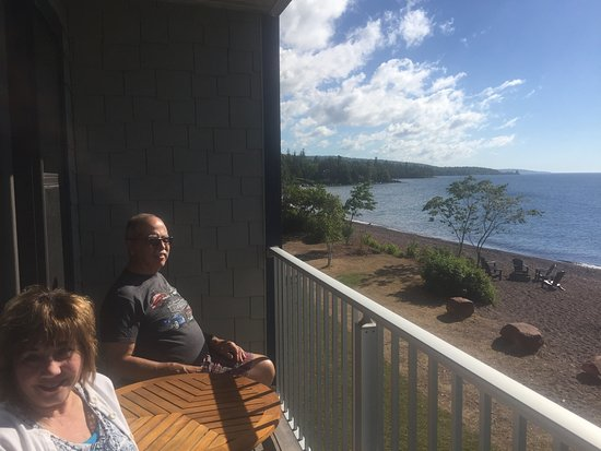 East Bay Suites: the balcony overlooking Lake Superior