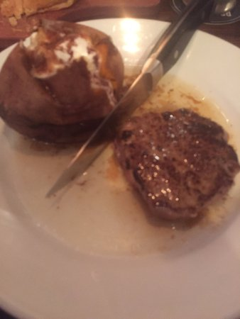 LongHorn Steakhouse: Steak and sweet potato