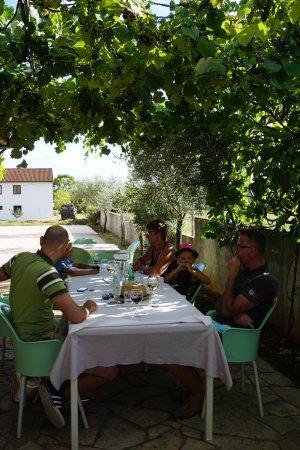 Zminj, Croatia: Dineren onder de druiven