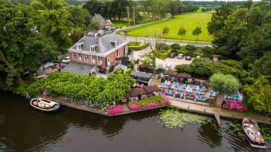 Breukelen, Holland: Slangevegt vanaf de Vecht
