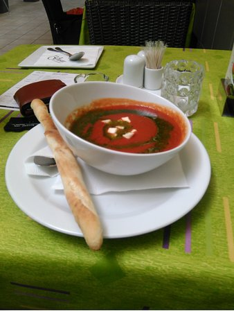 Martin, Eslovaquia: Paradajková polievka (nebola v dennom menu), bola fantastická