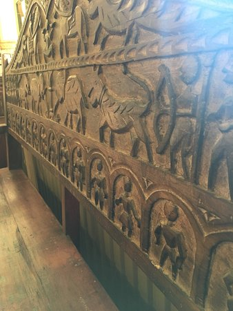 Fletching, UK: Carving on one of hundreds of items of furniture in Trading Boundaries