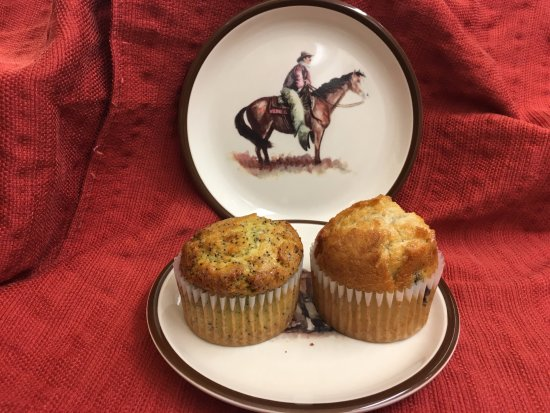 Brew Grit Coffee: Lemon Poppyseed and Blueberry Muffin baked in-house