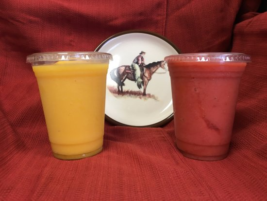 Brew Grit Coffee: Real Fruit Smoothies - Peach and Strawberry to name a few!