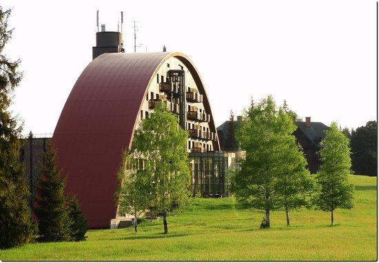 Tatranska Javorina, Slowakije: The main building - best views side