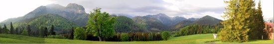 Tatranska Javorina, Slovakia: Hotel grounds - down to the trees