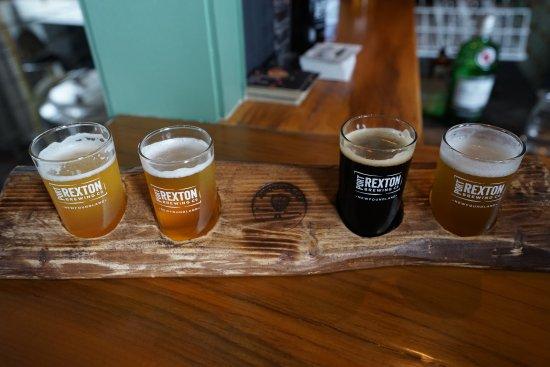 Port Rexton, Kanada: A flight (4 different beer varieties).