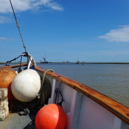 Heading back to Orford quay after nearly three hours cruising along the Alde