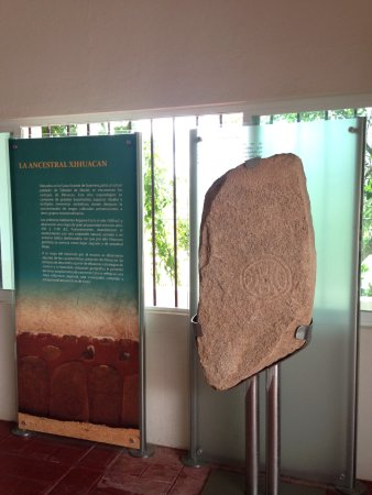 Xihuacan Museum and Archeological Site: The excavated arena stamp