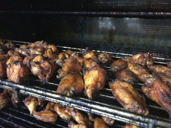 Scottsboro, AL: Freshly smoked wings.