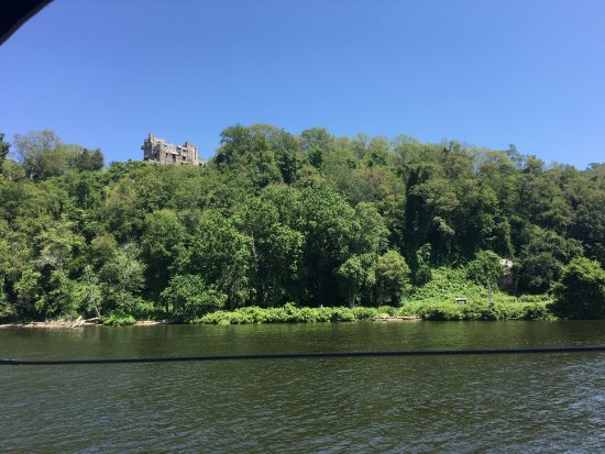 Essex, CT: View of Gillette Castle from boat