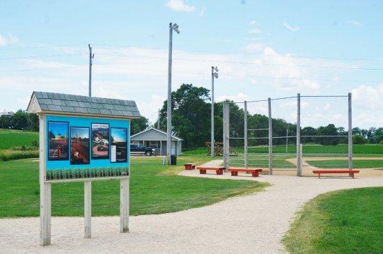 Dyersville, IA: Entering the baseball field