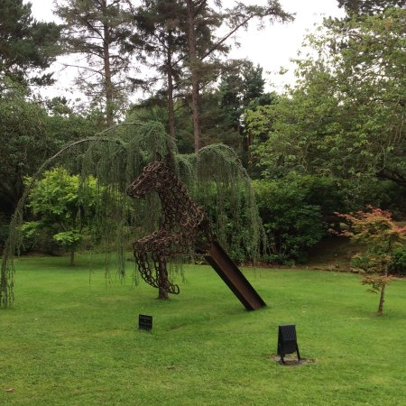 Frankby, UK: One of the sculptures in the grounds