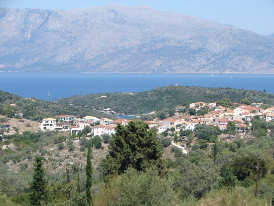 Meganisi Villas: view from poolside