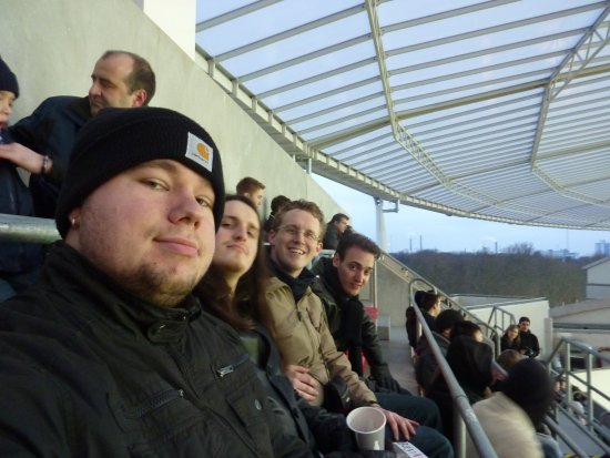 BayArena: me and my friends in the stadion