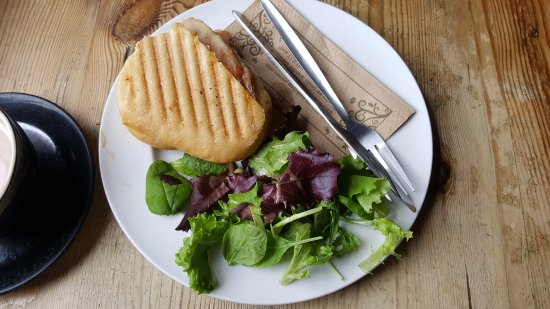 Monmouth, UK: Ham and Cheese Panini toasted