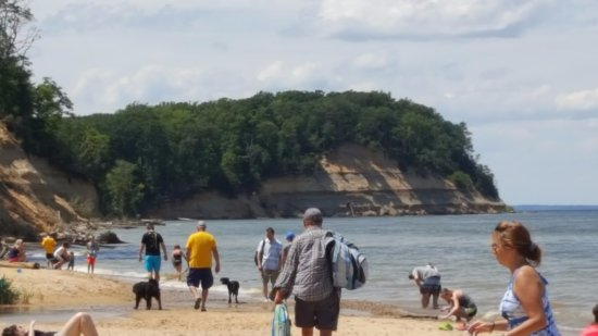 Lusby, MD : Calvert Cliffs Beach Area