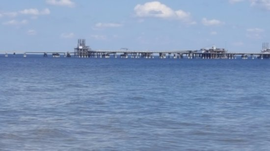 Lusby, MD : Looking out in the water from Calvert Cliffs beach