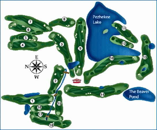 Glenwood, MN: Golf course Map