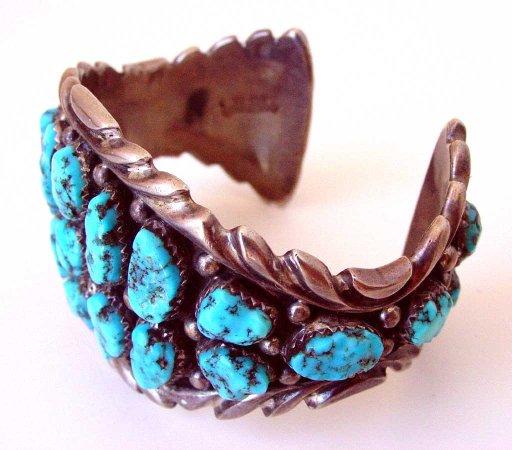 Mancos, CO: Navajo Cluster Bracelet circa 1960's
