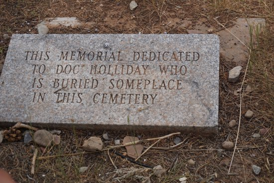 Doc Holliday's Grave: Doc Holliday was poor, so he is most likely buried in the potter's field.