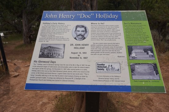 Doc Holliday's Grave: Plaque that tells Doc Holliday's story.