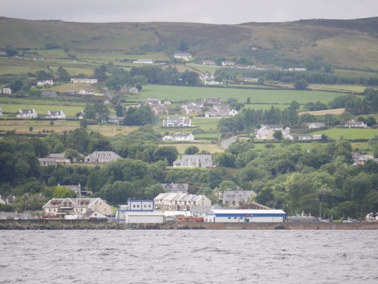Greencastle from Magilligan Point.