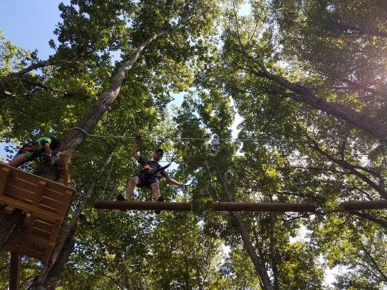 Vernon, NJ: One of the many TreEscape obstacles