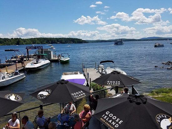 Wolfeboro, NH: The deck at Garwoods