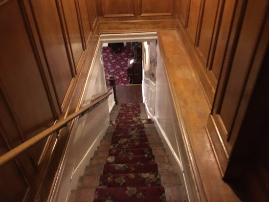 Jefferson, TX: Long narrow stairwell and its creaky also