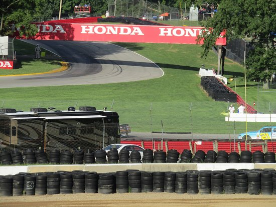Lexington, Огайо: Views from Grandstand 2 at Mid-Ohio for the NASCAR Mid Ohio Challenge